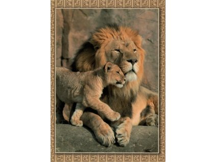 Pohlednice Lev s lvíčetem