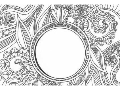 Pohlednice k vymalování - prsten
