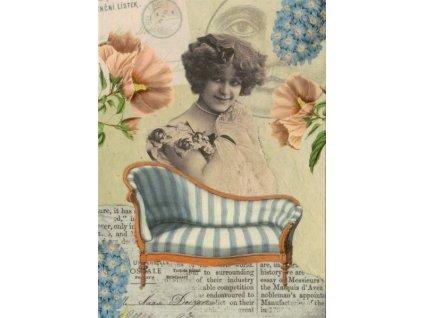 Pohlednice Vintage dívka