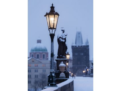 Pohlednice Zimní Karlův most