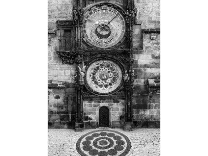Pohlednice Staroměstský orloj (ČB)