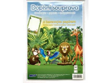 Dopisní sada dětská Safari