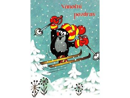 Pohlednice Krteček - Vánoční pozdrav