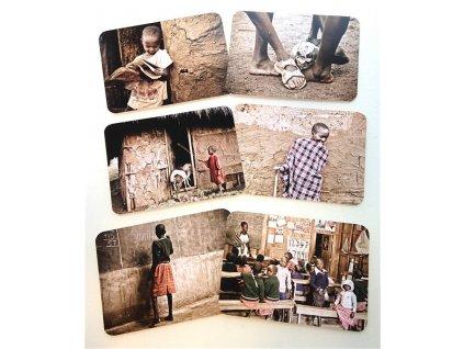 Sada pohlednic projekt MAASAI ACADEMY