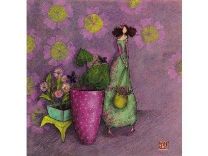 Pohlednice Květinky