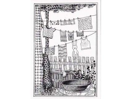Pohlednice Velké prádlo