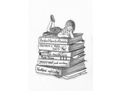Pohlednice Na knihách