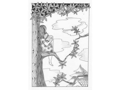 Pohlednice Na stromě
