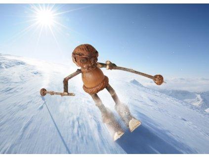 Pohlednice Dubánek lyžař