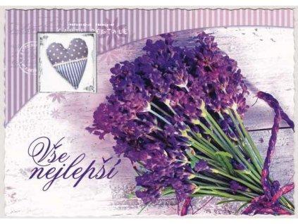 Pohlednice Květiny přání 1