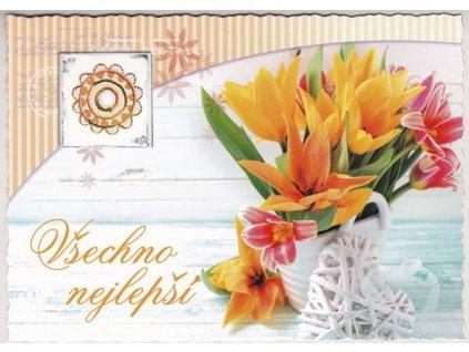 Pohlednice Květiny přání 3