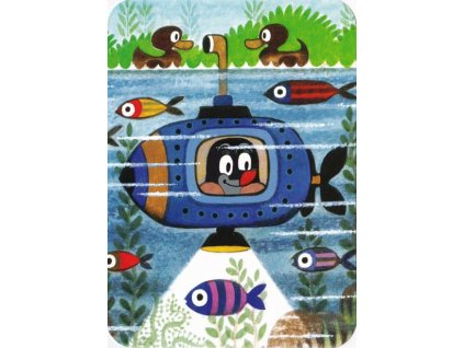 Pohlednice Krteček v ponorce