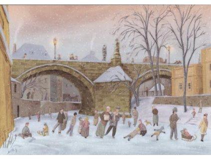 Pohlednice Zimní radovánky