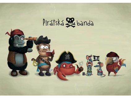 Pohlednice Mědvěd Wrr - Pirátská banda