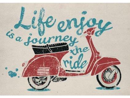 Pohlednice Život je cesta