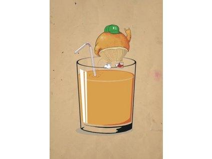 Pohlednice Cool pomeranč