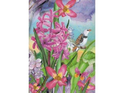 Pohlednice Květinky 3