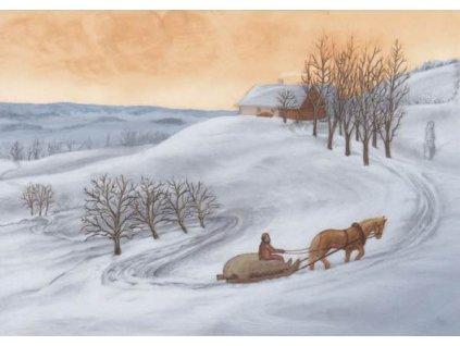 Pohlednice Zimní