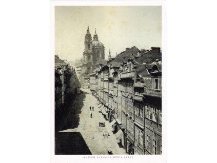 Pohlednice Mostecká ulice, Praha