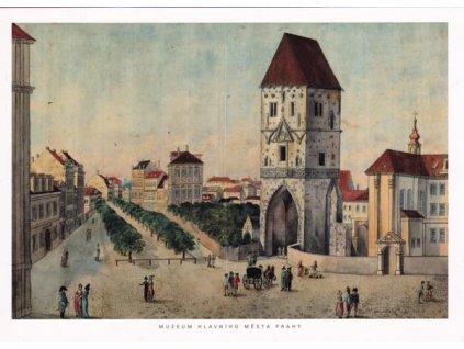 Pohlednice Prašná brána, Praha