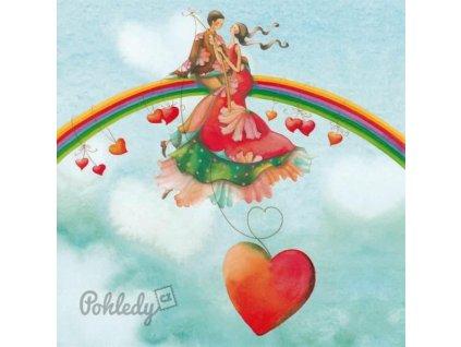 Pohlednice Duha z lásky