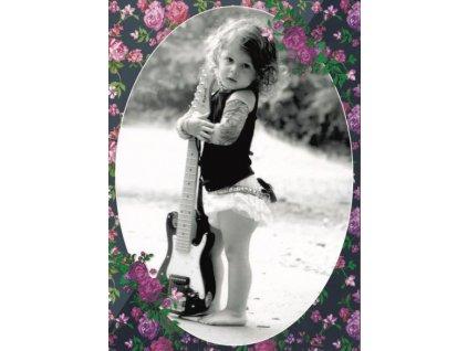 Pohlednice Malá kytaristka