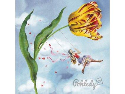Pohlednice Tulipánová