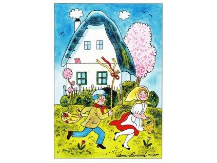 Pohlednice Velikonoční 6 (A. Ladová 1975)