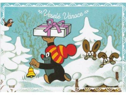 Pohlednice Krteček přeje Veselé Vánoce