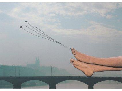 Pohlednice Na mostě - E. Podzimková