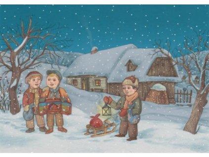 Pohlednice Vánoční