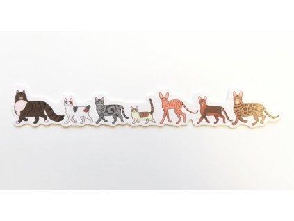 Záložka do knihy Kočičky
