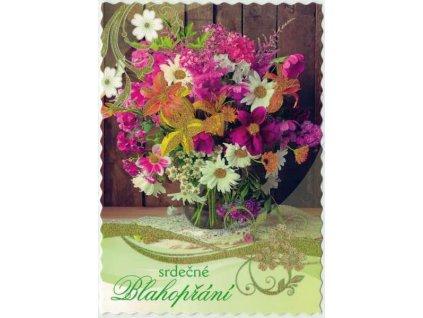 Pohlednice Květiny přání 10
