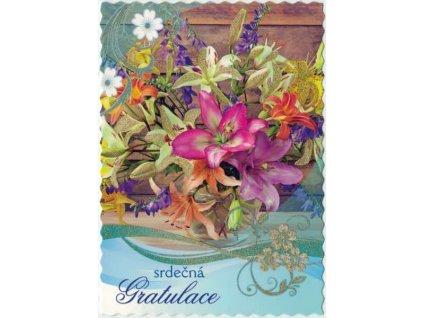 Pohlednice Květiny přání 12