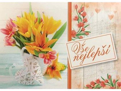 Pohlednice Květiny přání 22