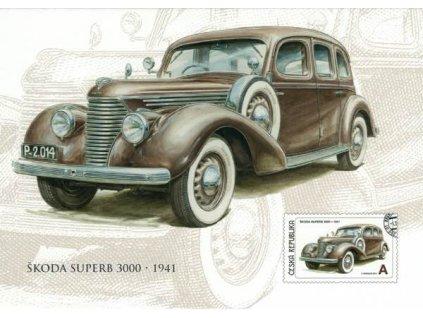 Pohlednice Škoda Superb 3000