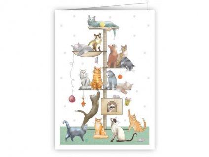 Minipřání s obálkou - Kočičky