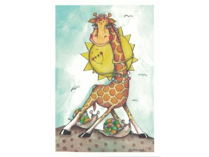 Pohlednice Žirafa
