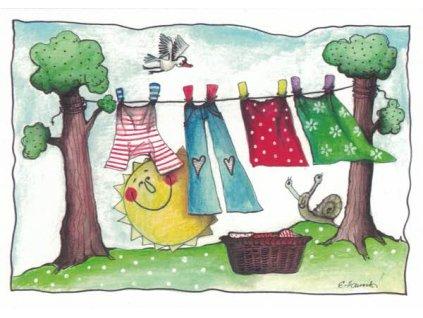 Pohlednice Jarní prádlo