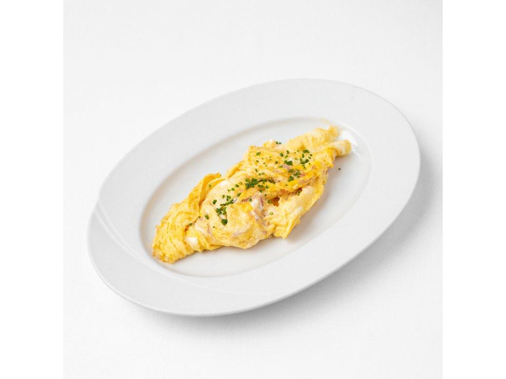 Snídaně 04 - Omeleta se šunkou a sýrem