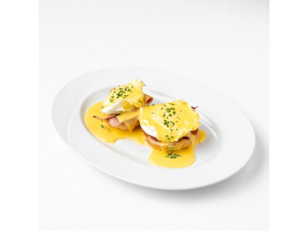 Snídaně 03 - Dvě vejce Benedikt se šunkou