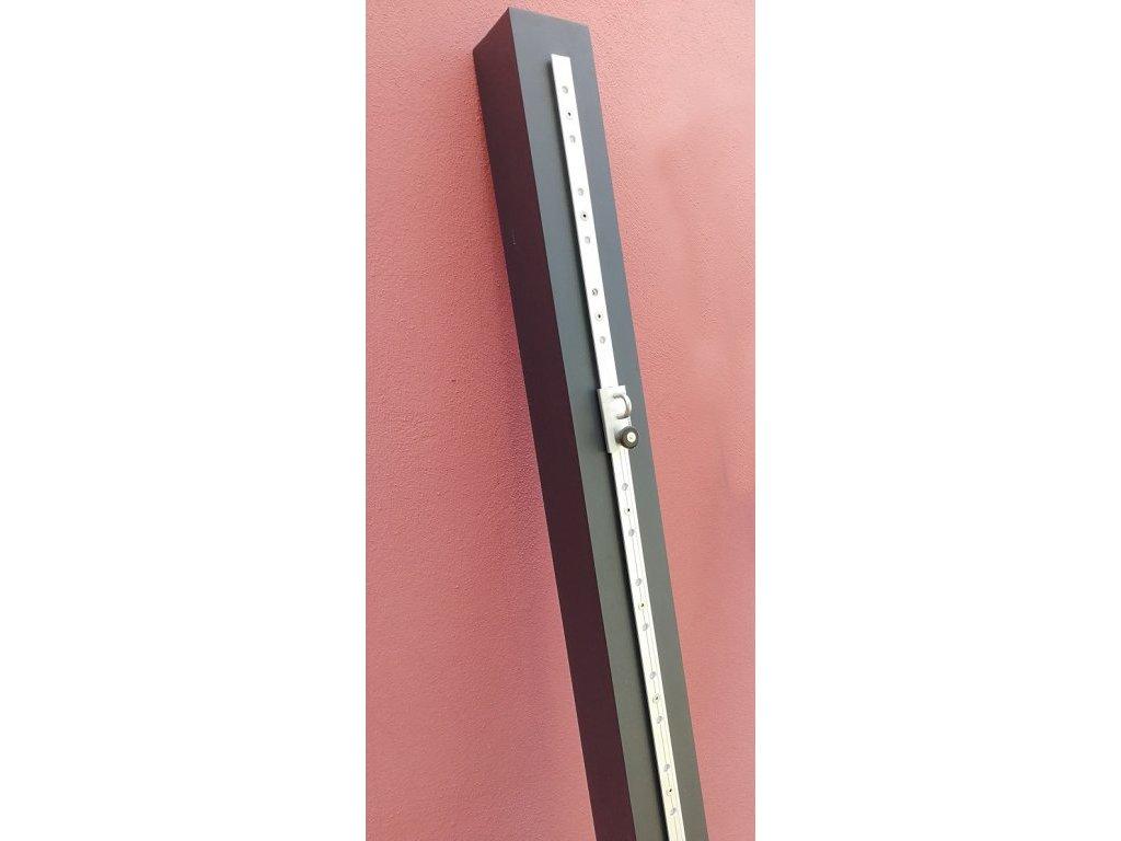 Hliníková tyč s kolejničkou