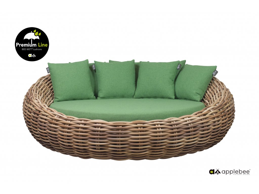 Apple Bee Cocoon Daybed Mocca 20mm Green Free standing 01 Premium Line edited