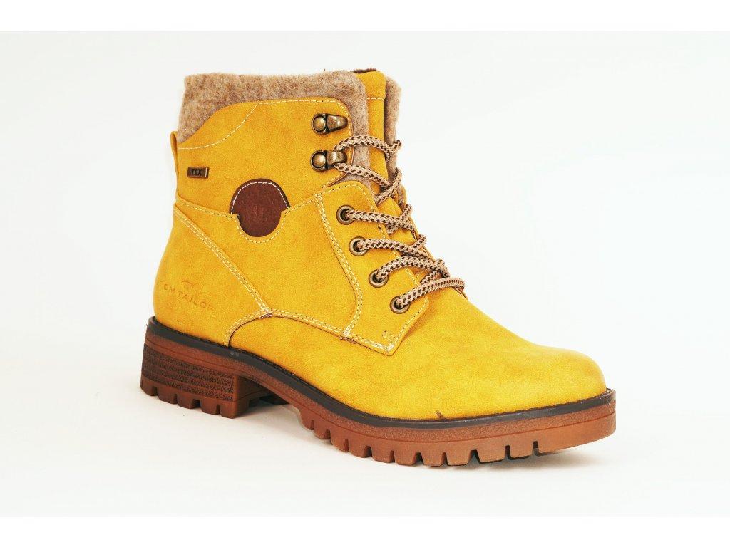 Tom Tailor 9091002 dámské kotníkové boty žlutá