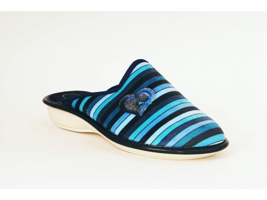 Santé LX/324 dámská domácí obuv, modrá mix