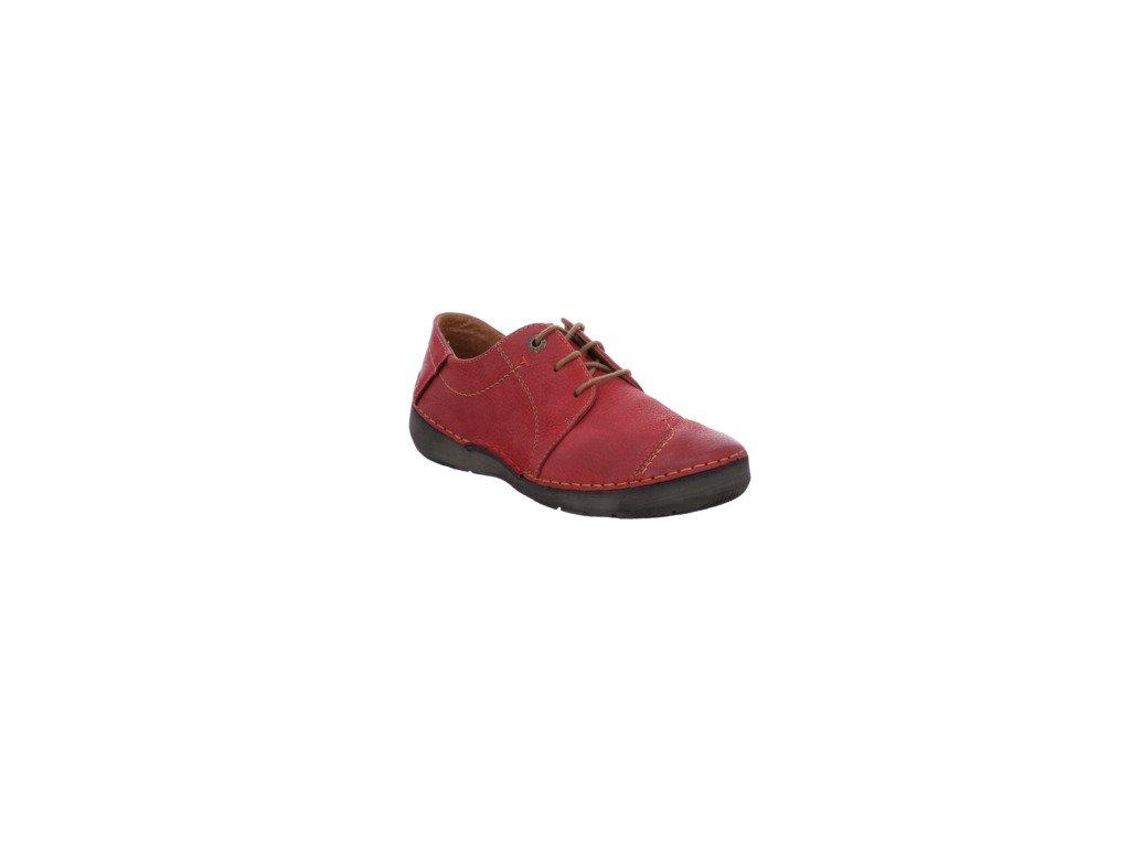 Josef Seibel Fergey 20 pohodlné červené boty na tkaničku 59692