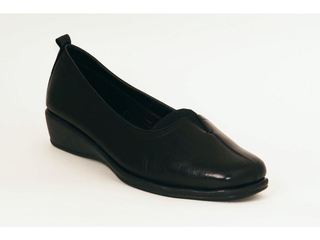 Kožené černé baleríny VITELLO soft breeze 1206/52