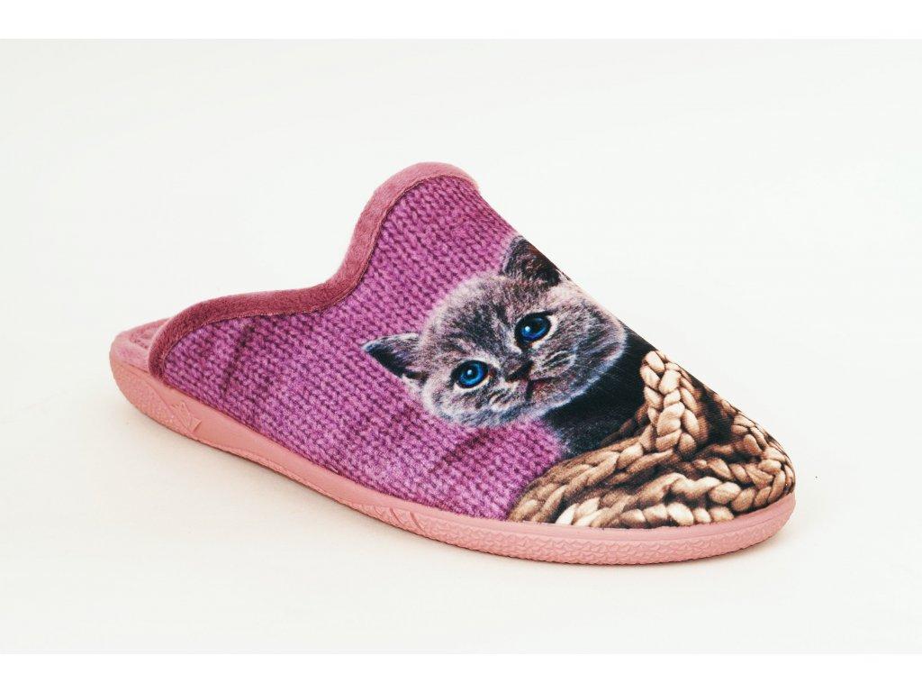 Santé AB/23175 domácí pantofle - kočka, růžové