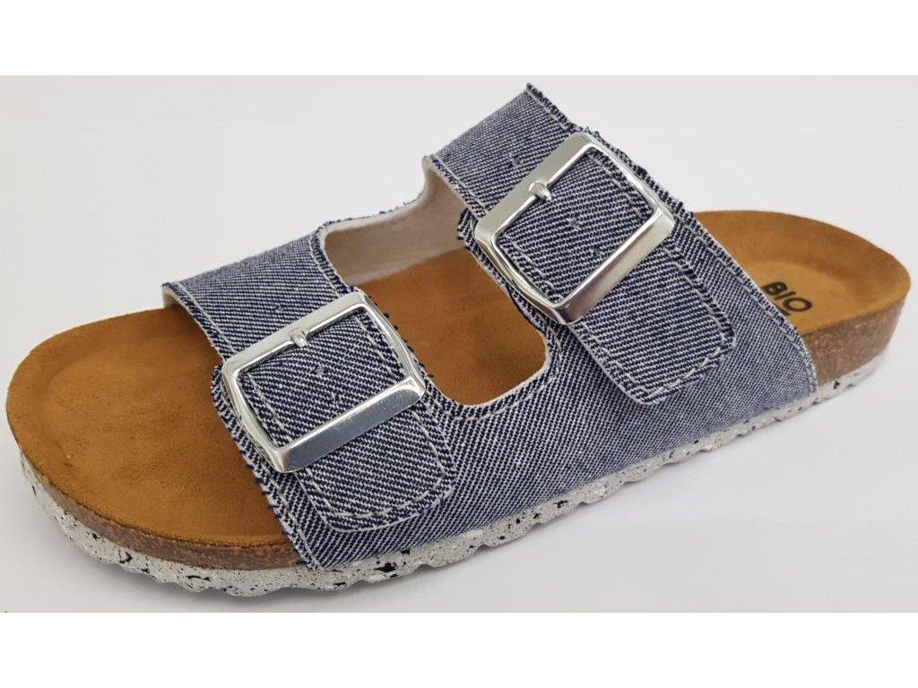 Bio Life Lena dámské zdravotní pantofle modrá jeans