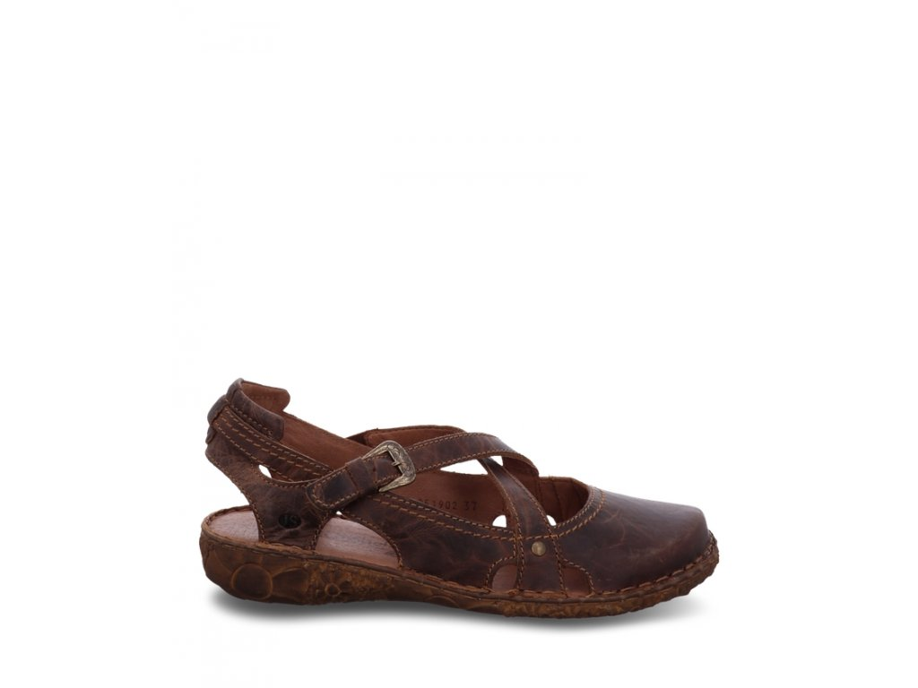 Josef Seibel Rosalie 13 kožené dámské sandále hnědá